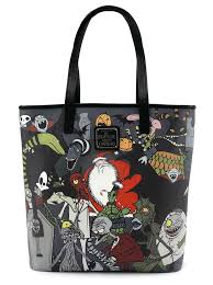 character print tote by loungefly x nightmare before