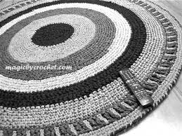 Black Round Rug Rugs Round Inviting Home Design