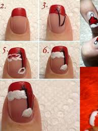pictures diy santa nail art designs for christmas