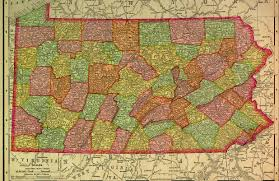 Pa Counties Map Historical Maps Of Pennsylvania