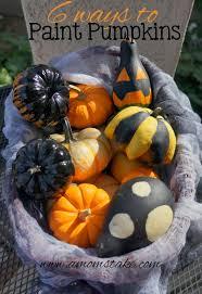 6 ways to paint pumpkins for halloween a mom u0027s take