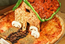 needs pizza who needs gingerbread when you can make this awesome pizza house