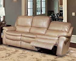 juno power reclining sofa in sand synthetic leather by parker