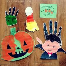 adorable handprint footprint halloween crafts crafty morning