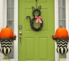 Halloween Door Wreath by Halloween Wreath Cat Wreath Original Wreath Fall Wreath
