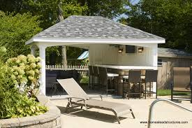 pool houses cabanas sheds side bars homestead avalon pool house vinyl siding