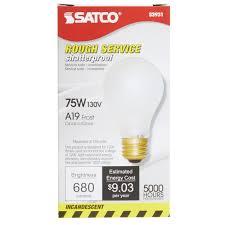rough service light bulbs satco s3931 75 watt frosted shatterproof finish incandescent rough