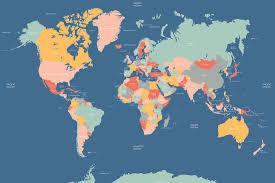Wall Map Murals Navigator World Map Mural Muralswallpaper Co Uk