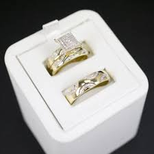 gold wedding set gold diamond trio wedding set 27 cadillac jewelry