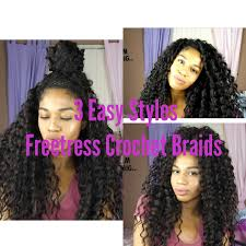 different images of freetress hair 3 different styles with freetress crochet braids youtube