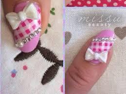 japanese nail art tutorial 3d hand folded bow youtube
