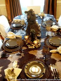 themed tablescapes safari themed table setting tablescape