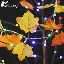 maple leaf garland with lights 10 led fairy night lights autumn leaf light harvest fall leaves l