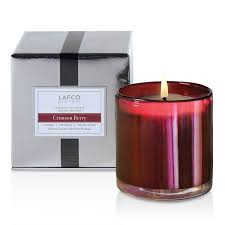 lafco house u0026 home holiday crimson berry candle 15 5oz