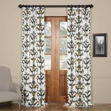 gold printed cotton twill curtain