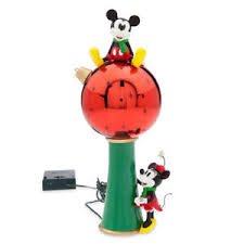disney store mickey and minnie mouse light up tree topper new in