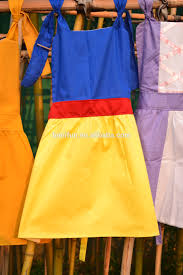 snow white witch costume snow white apron baby girls blue yellow and red aprons happy