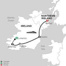 Ireland Rail Map Limerick Kilarney Dublin U0026 Belfast Vacation Monograms