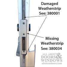 Glass Door Weatherstripping by Kawneer Commercial Finned Door Astragal 96