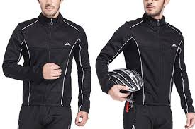 bicycle windbreaker jacket amazon com dushow men winter windproof warm fleece cycling jersey