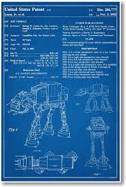 amazon com posterenvy star wars at at patent invention blueprint