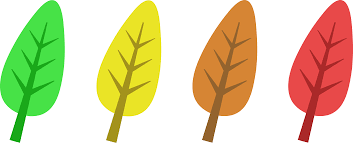 colored autumn tree leaves free clip art