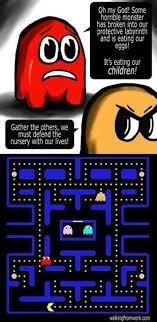 Pacman Memes - pacman is a monster meme guy