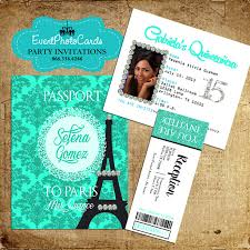 paris mint green passport with ticket reception pass paris
