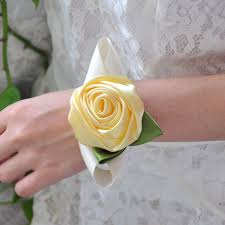 corsage prices wedding wrist corsage bridesmaid diy silk bracelet