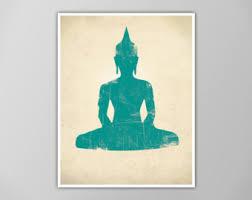 Buddhist Home Decor Buddha Wall Art Inspirational Quote Art Print Watercolor Zen