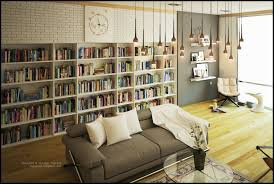 Living Room Library Interior Design Ideas Home Plans With Library - Library interior design ideas