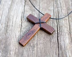 mens cross necklace etsy