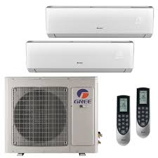 Small Bedroom Air Conditioning Gree Multi 21 Zone 36 000 Btu 3 0 Ton Ductless Mini Split Air