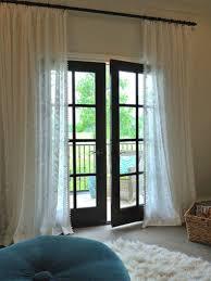 decorating french door screen curtain french door window