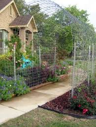 Garden Arch Plans by Inexpensive Garden Arbors Made With Electrical Conduit Rebar