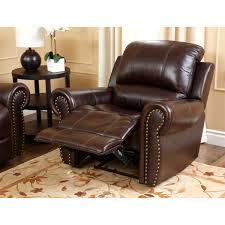 Leather Sofa And Armchair Abbyson Living Ch 8811 Brg 3 1 Bristol Reclining Italian Leather