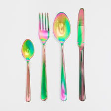 colour effect steel cutlery flatware cutlery and steel