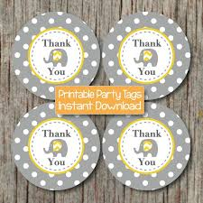 instant download printable thank you tags baby shower birthday