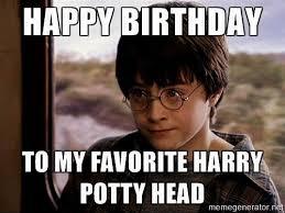 Meme Gallery - fancy harry potter birthday meme photo best birthday quotes