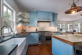 kitchen blue cabinets blue cabinet paint colors our kitchen makeover