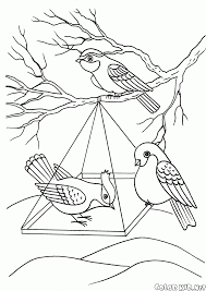 coloring page seasons winter