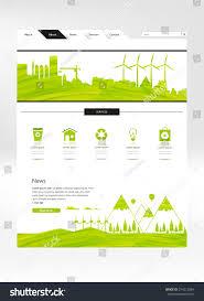 Green Home Design News by Professional Green Eco Website Design Vector Stock Vector