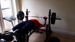 bench press session home gym youtube