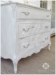 How To Repaint Furniture by Tweak U0026 Style Blog The Hand Painted Dresser How To Add A Hand