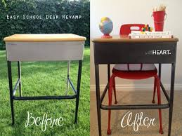 how to refinish a desk easy desk revamp video tutorial withheart