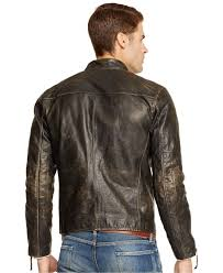 39 Off Ralph Lauren Jewelry Lyst Polo Ralph Lauren Distressed Leather Jacket In Brown For Men