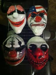payday halloween masks with pictures