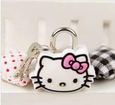 buy arrival kitty cute cartoon silicone luggage locks