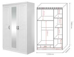 3 Door Closet Whole Sell 3 Door Wardrobe With Mirror Bset Price Closet Wooden