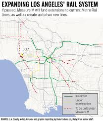 Metro Map Los Angeles by The Quad The Pros And Cons Of Measure M Daily Bruin